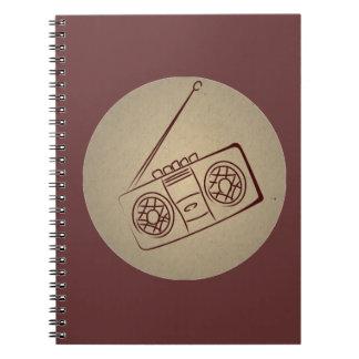 Reproductor de casete audio retro del vintage. Pap Libretas