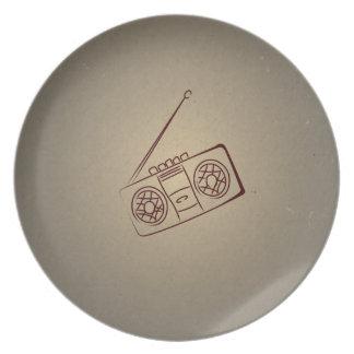 Reproductor de casete audio retro del vintage. Pap Plato
