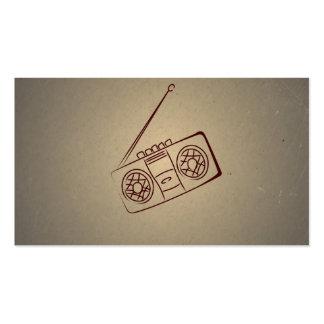 Reproductor de casete audio retro del vintage. Pap Plantilla De Tarjeta Personal