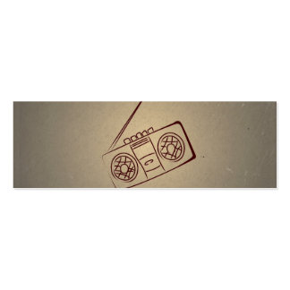 Reproductor de casete audio retro del vintage. Pap Tarjeta De Negocio