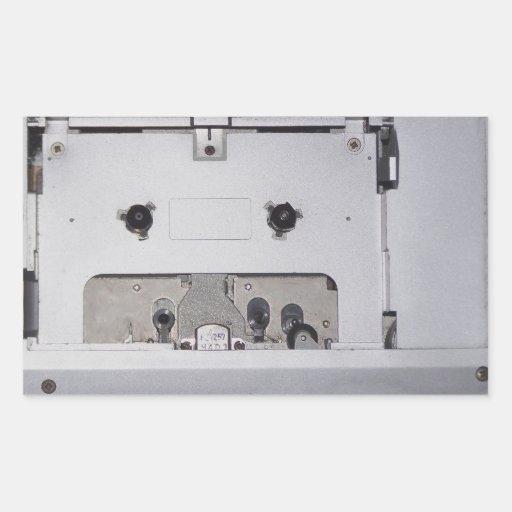 Reproductor de casete de los años 80 del vintage pegatina rectangular