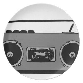 REPRODUCTOR DE CASETE DE RADIO DEL EQUIPO ESTÉREO  PLATOS