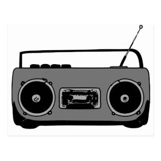 REPRODUCTOR DE CASETE DE RADIO DEL EQUIPO ESTÉREO  TARJETA POSTAL