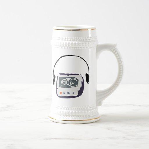 Reproductor de casete taza de café