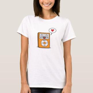 Reproductor Mp3 lindo - camiseta de las señoras