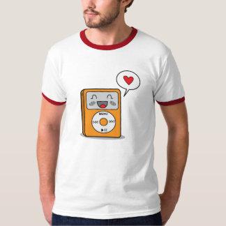 Reproductor Mp3 lindo - la camiseta de los hombres Playeras