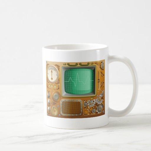 Reproductor multimedia industrial de Steampunk Tazas De Café