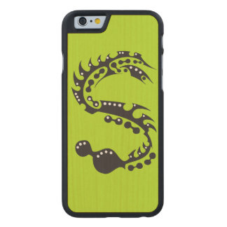 Reptil de la tinta funda de iPhone 6 carved® slim de arce