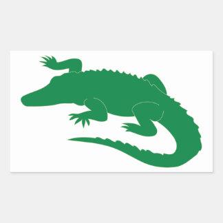 Reptil del cocodrilo del cocodrilo del cocodrilo pegatina rectangular