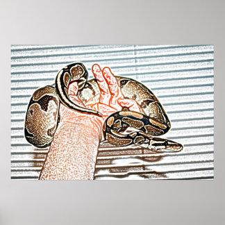 reptil disponible del bosquejo de la serpiente del impresiones