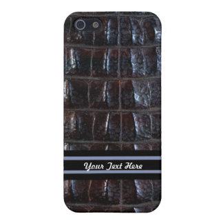 Reptil negro iPhone 5 fundas