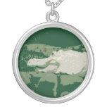 reptil verde gráfico del cocodrilo blanco del albi joyerias