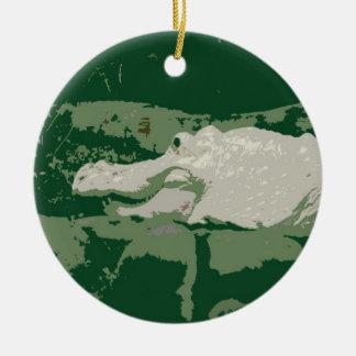reptil verde gráfico del cocodrilo blanco del albi adornos