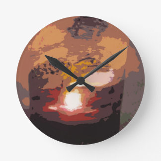 Reptile Art Abstract Alligator Round Clock