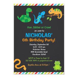 Reptile Birthday Invitations Zazzle