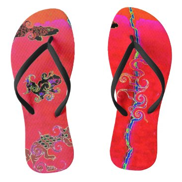 Beach Themed Reptile Collection:  Raging Flip Flip Flops