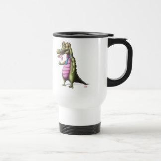 Reptile enjoying martini travel mug