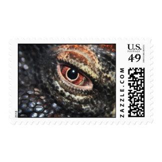 reptile eye stamp