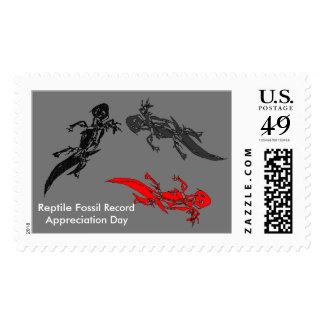 Reptile Fossil Record Appreciation Day Postage