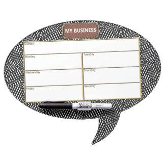 Reptile Oval Speech Bubble Dry Erase Black Board