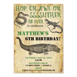 Lizard Birthday Invitations Zazzle