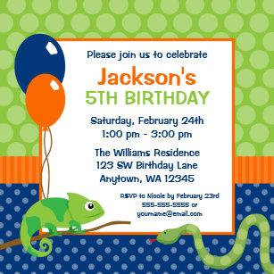 Reptile birthday invitations zazzle reptile polka dot kids birthday invitation filmwisefo