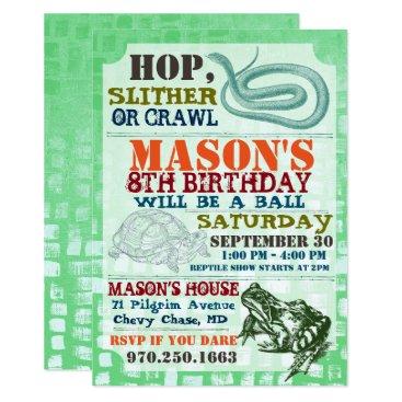 IYHTVDesigns Reptile Show Birthday Party Invitation