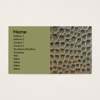 Reptile skin business card