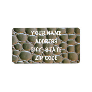 Reptile skin label