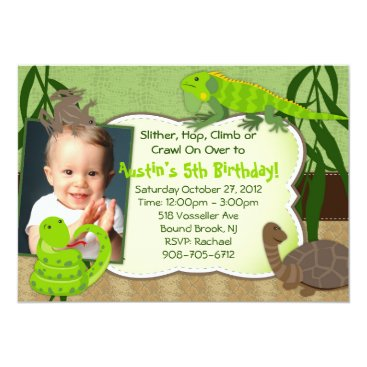 WhirlibirdExpress Reptile Themed Birthday Party Invitation