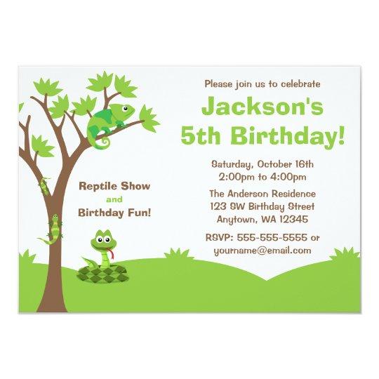 Reptile Tree Birthday Party Invitation Zazzle