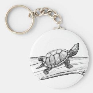 Reptile / Turtle /Stinkpot Turtle Basic Round Button Keychain