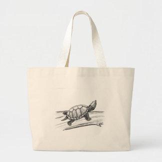 Reptile / Turtle /Stinkpot Turtle Large Tote Bag