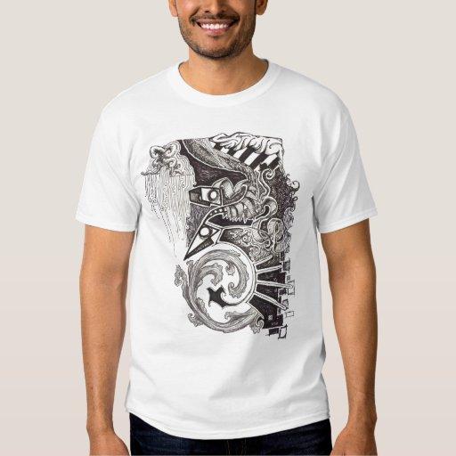 Reptiles abstractos remera