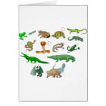 reptiles coleção de répteis ilustração didático cartão