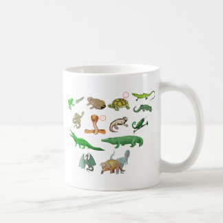 reptiles collection of reptiles didactic illustrat coffee mugs