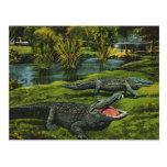 Reptiles de la vida marina del vintage, animales,  postal