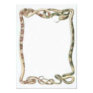 """Reptiles del vintage, serpientes o frontera invitación 5"""" x 7"""""""