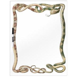 Reptiles del vintage, serpientes o frontera tableros blancos
