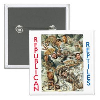 Reptiles republicanos 2016 pin cuadrada 5 cm