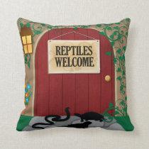 Reptiles Welcome Throw Pillow