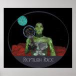 Reptilian alien race posters