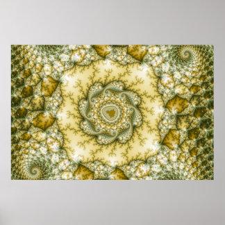 Reptilian - arte del fractal póster