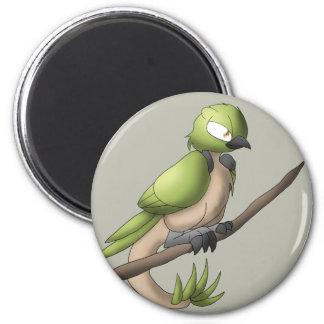 Reptilian Bird Reptile Avian Hybrid Animal Art 2 Inch Round Magnet