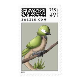 Reptilian Bird Reptile Avian Hybrid Animal Art Postage