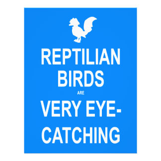 Reptilian Birds are Very Eye-Catching Flyer