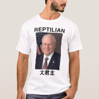 Reptilian Dick Cheney Overlord shirt