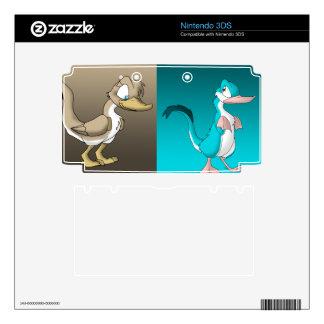 Reptilian Ducks Nintendo 3DS Skin