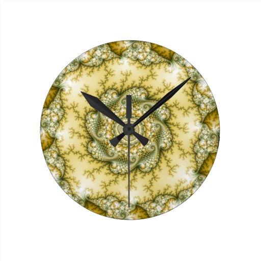 Reptilian - Fractal Art Wall Clock