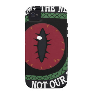 REPTILIAN IN THE NEWS AS NEWSCASTOR UFO ALIEN 6 iPhone 4 COVER